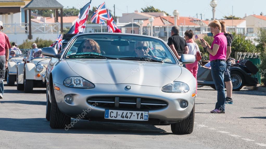 Desfile De Carros Bonitos De Inglês Velhos Fotografia De Stock