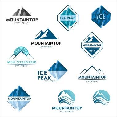 Mountain logo, vector logo design for ski sports, tourism, active leisure