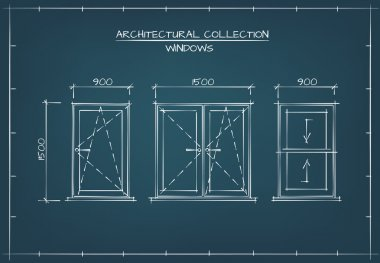 Architectural Drawing of Windows