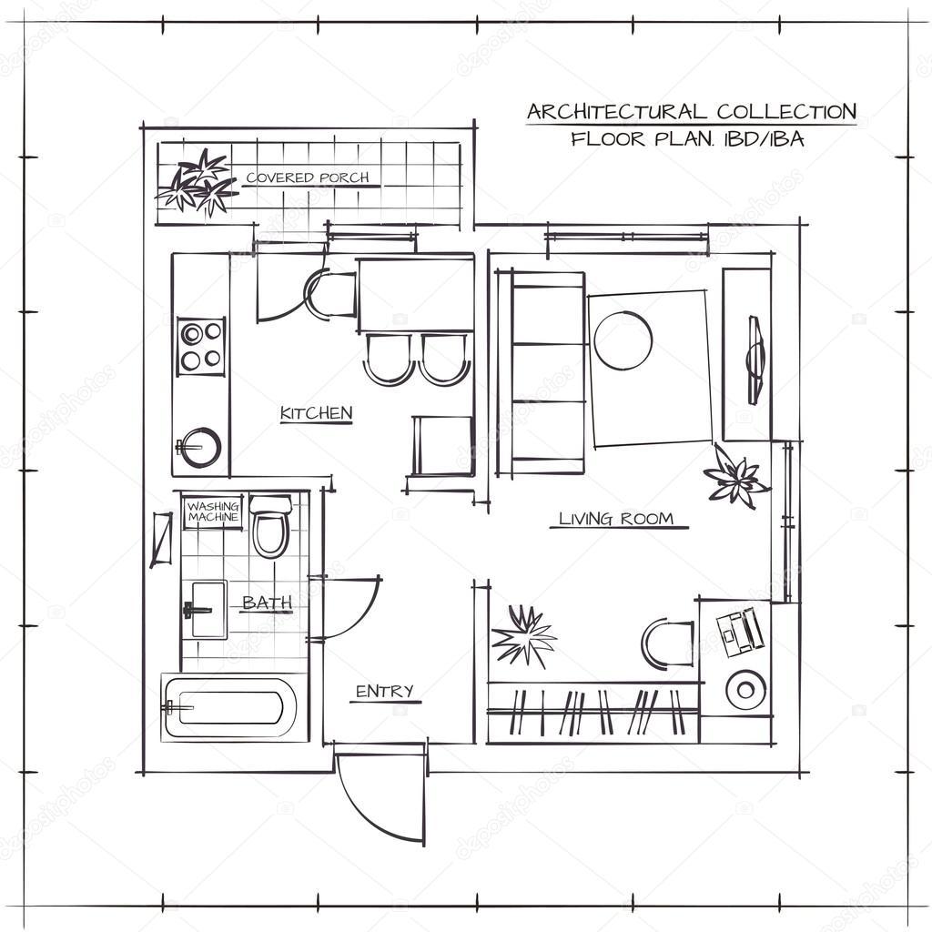 Architecturale plattegrond — Stockvector © darina.nedozim.gmail.com #102475456