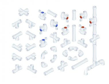 Isometric Plumbing Elements