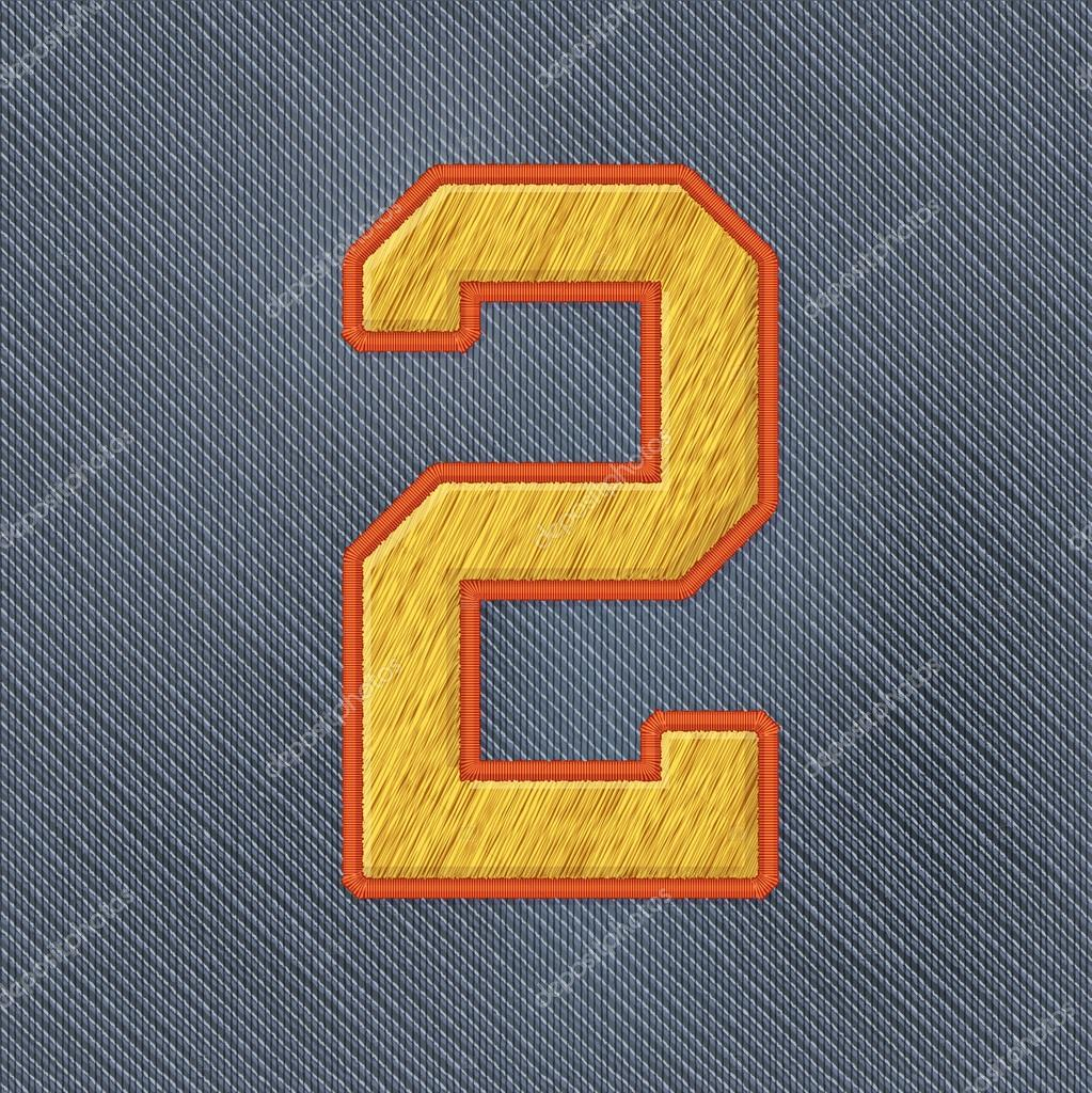 Embroidery patch numbers — stock vector darina nedozim