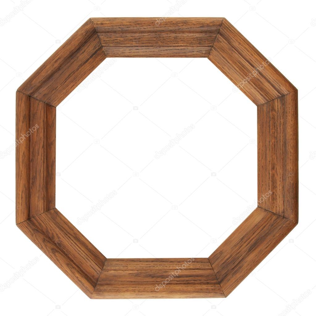 Achteck antiken Rahmen, Retro-Rahmen, Holzrahmen, die isoliert auf ...