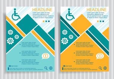 Disabled Handicap  web symbol on vector brochure flyer design la