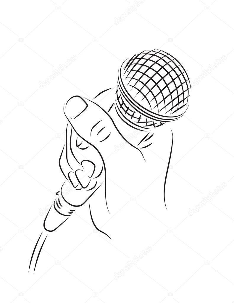 Mikrofon W R Ku Grafika Wektorowa Dominykas Isterikas
