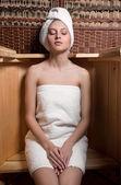Fotografia Donna che cattura trattamenti termali
