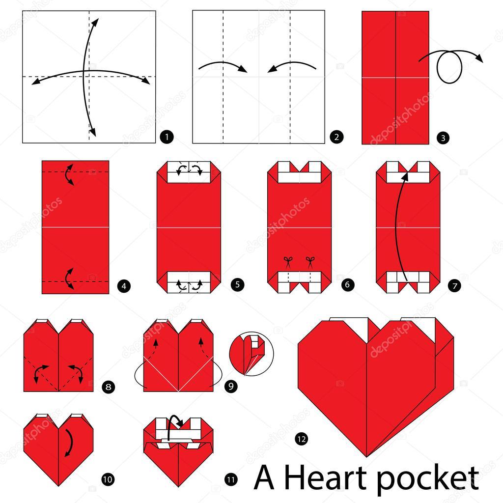 Corazon Con Bolsillo En Origami Paso A   Tutorial Origami ... - photo#32