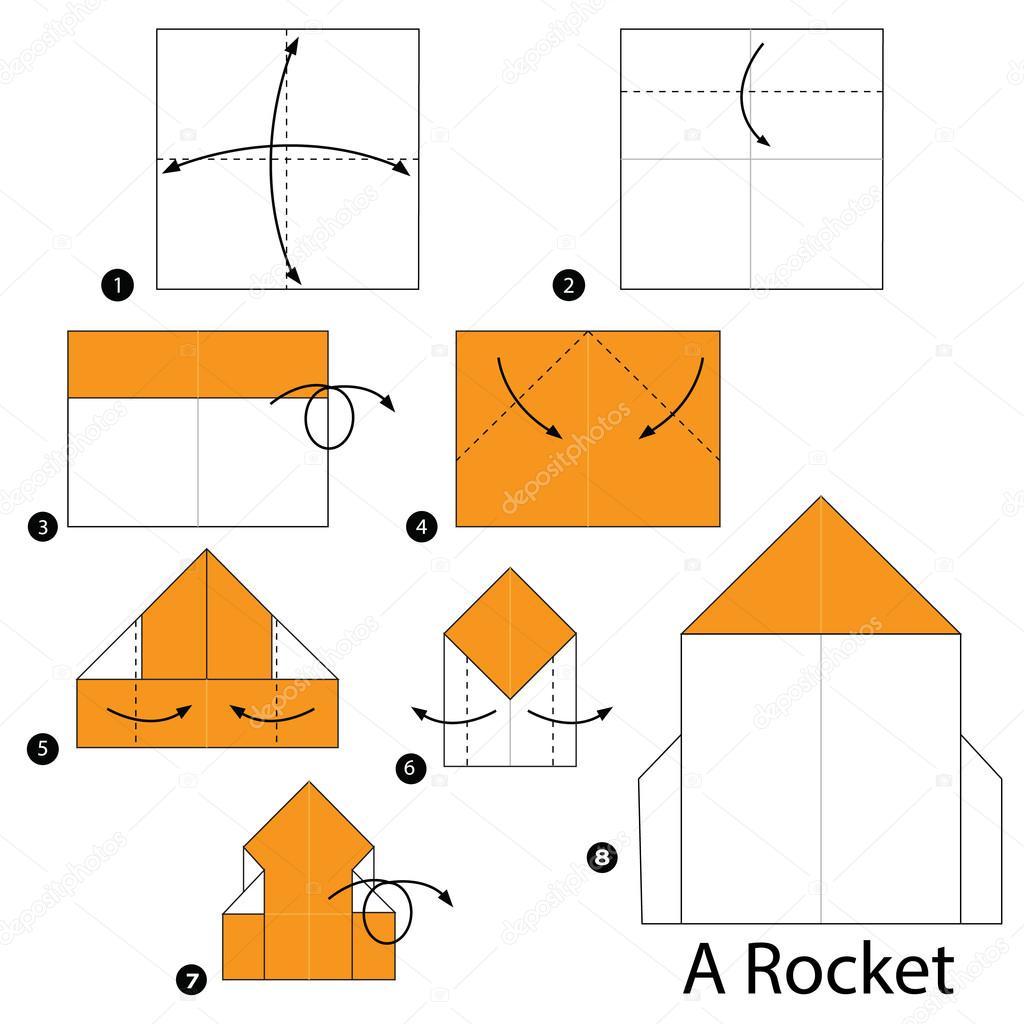 Paso De Cohete Dibujo Instrucciones ALas Cómo WH9e2EYDIb