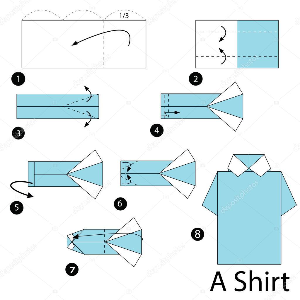 stap voor stap instructies hoe te maken van origami A ...