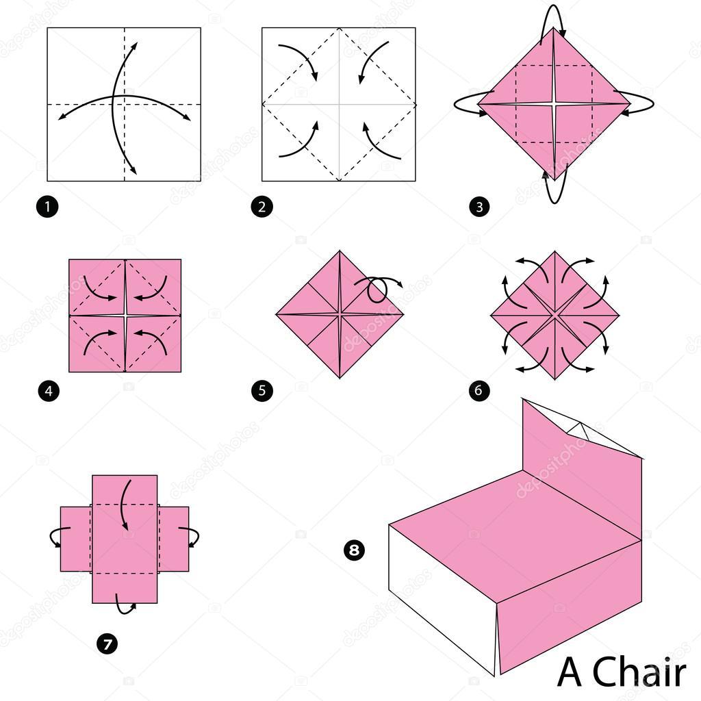 Origami De Hacer A Cómo Silla Las Paso Una Instrucciones bIy76gYmfv