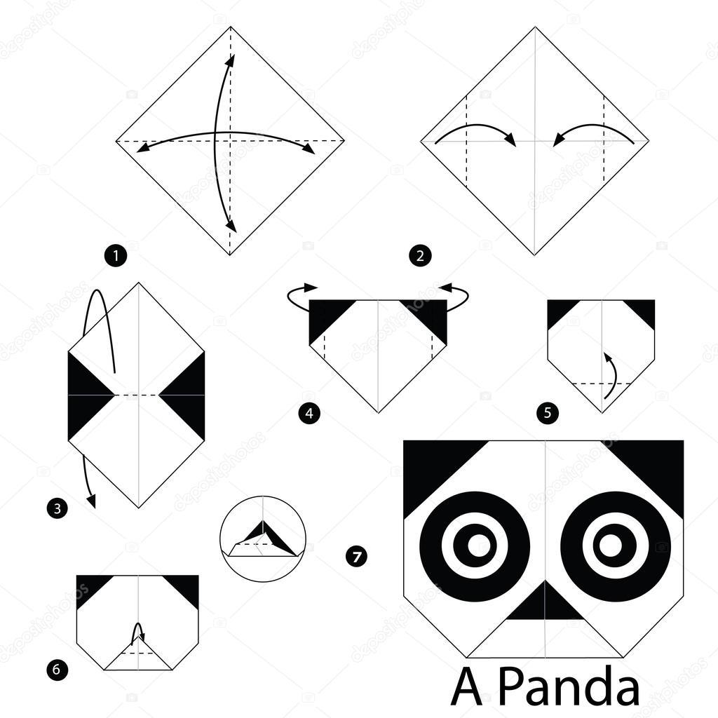 Paperpanda Krok Po Kroku Instrukcje Jak Zrobić Origami A Panda
