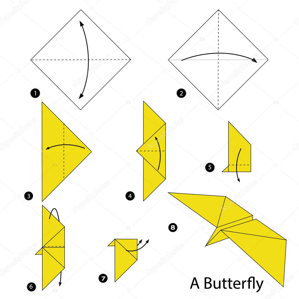 step by step instructions how to make origami A Butterfly ... - photo#27
