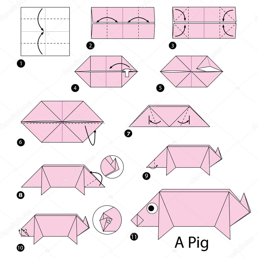 How to make Paper Pig Puppets - YouTube | 1024x1024