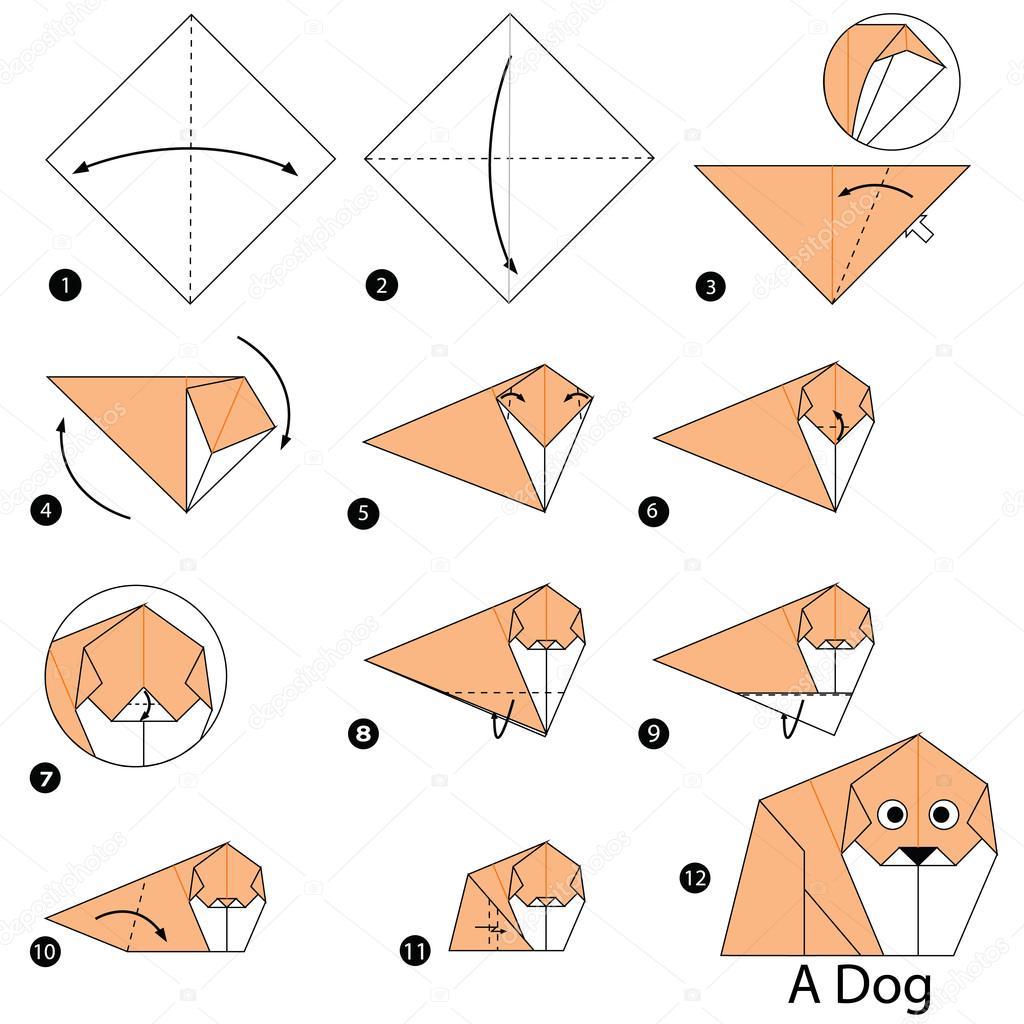 instructions étape par étape comment faire chien origami A ... - photo#48