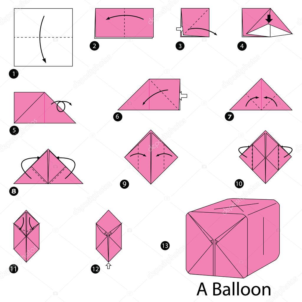 Origami globo como hacer   paso a paso las instrucciones ... - photo#40