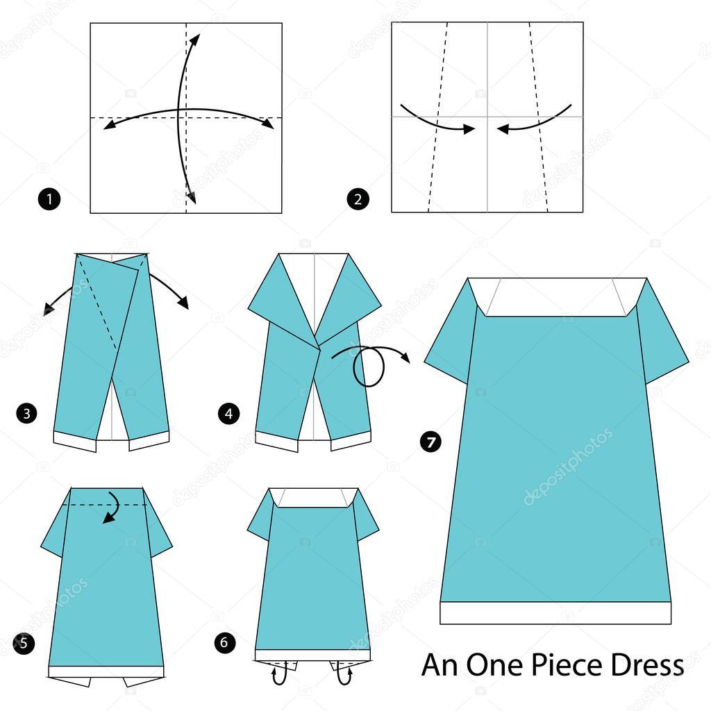 Vestido Origami Como Hacer Paso A Paso Las Instrucciones