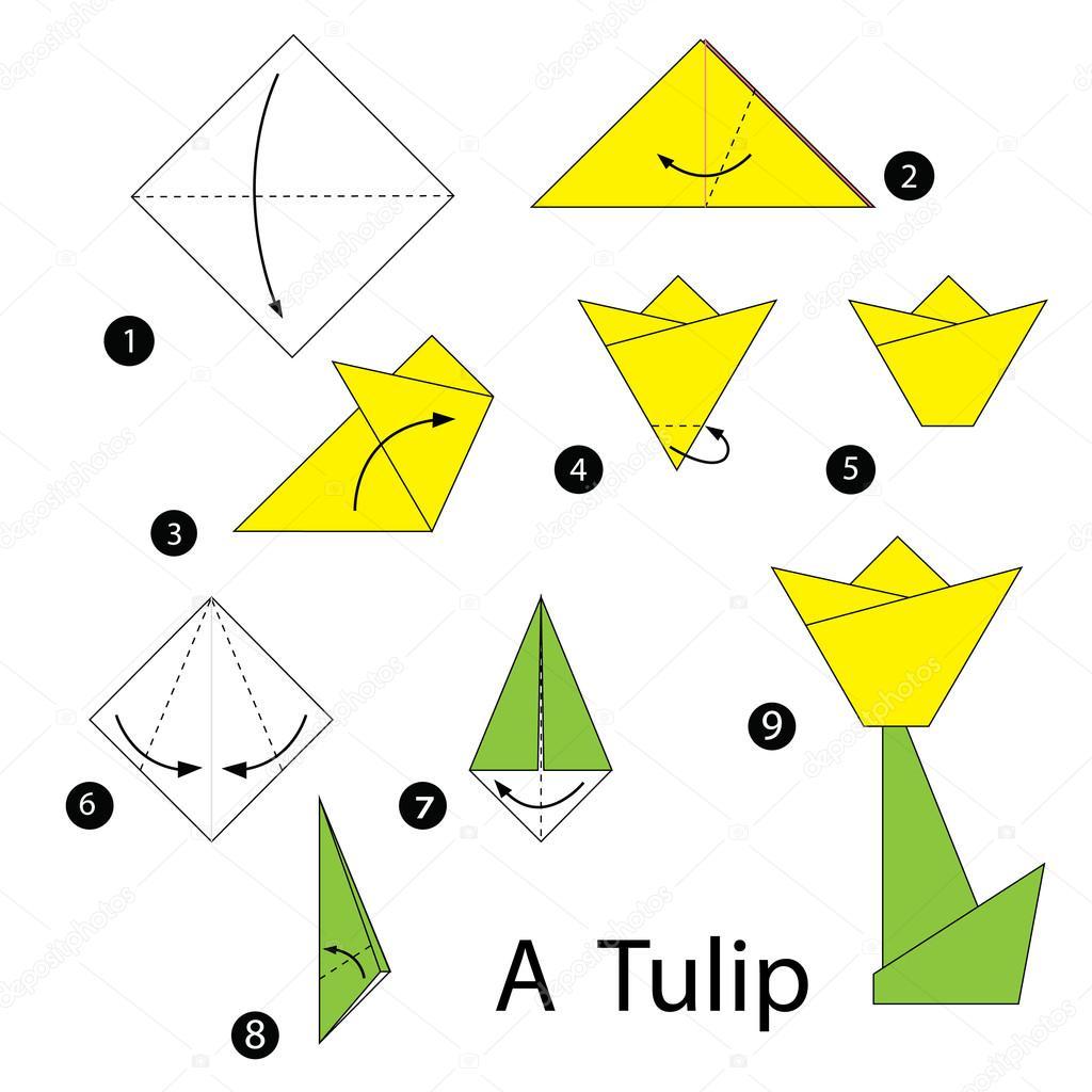 Instructions Etape Par Etape Comment Faire Tulip Origami A Image