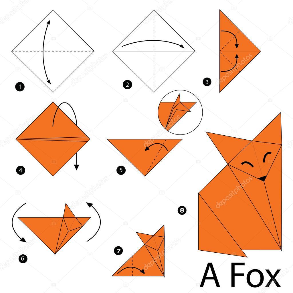 Instructions étape Par étape Comment Faire Un A Fox Dorigami
