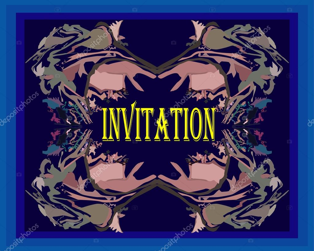 invitation backgrounds design stock vector sanjayart 107312088