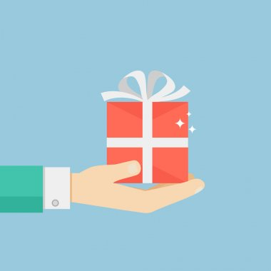 Hand holding or offering gift or present