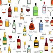 Fotografie Vektor-Alkohol-Flaschen-Muster