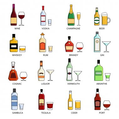 Vector alcohol list