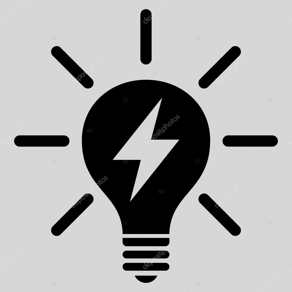 Elektrisches Licht Lampe flache Vektor Piktogramm — Stockvektor ...