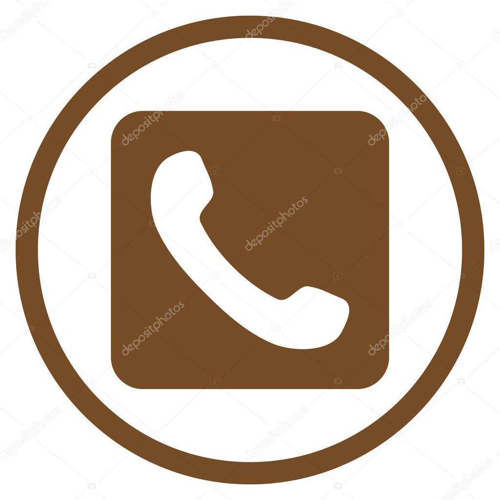 telephone flat vector rounded icon stock vector anastasyastocks rh depositphotos com phone vector icon white vector phone icons for illustrator