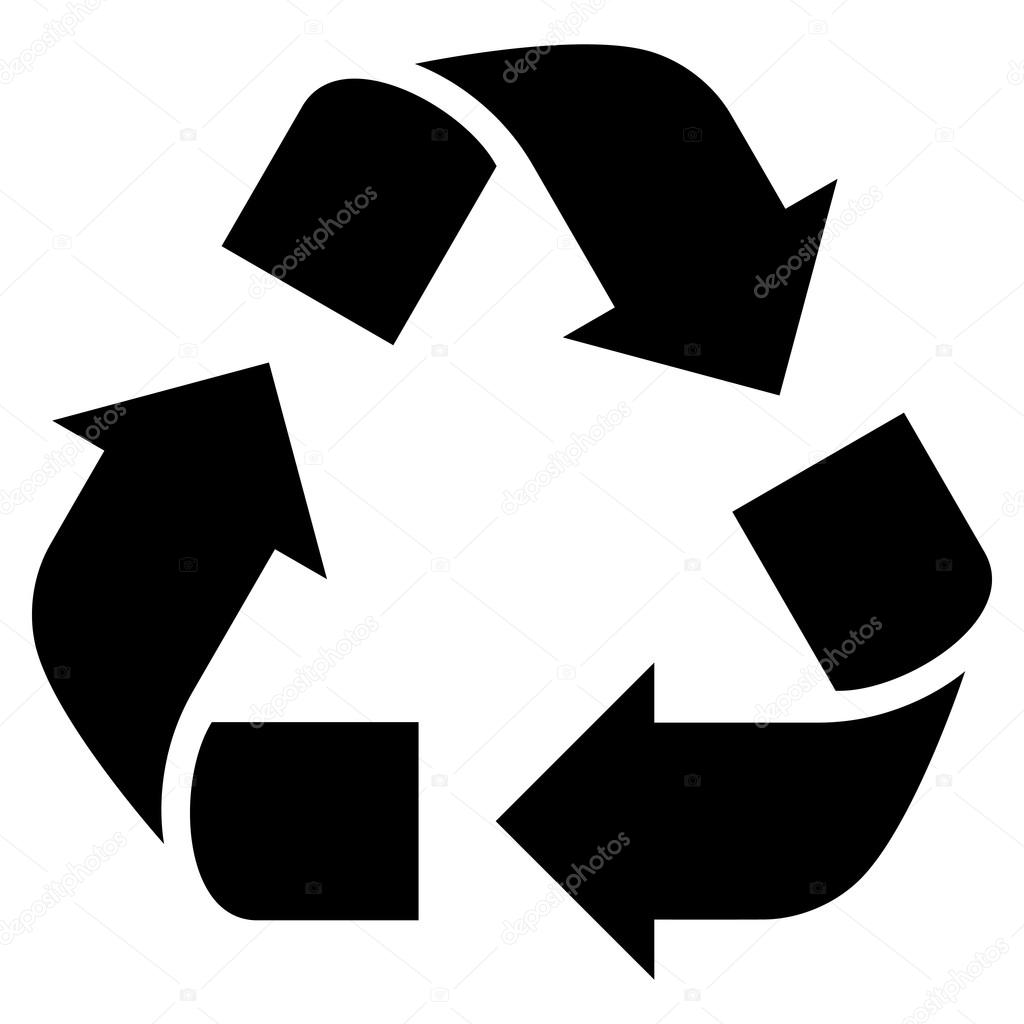 recycle flat vector icon stock vector anastasyastocks gmail com rh depositphotos com recycling vector recycling vector art