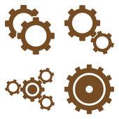 Ozubená kola plochá vektor symboly