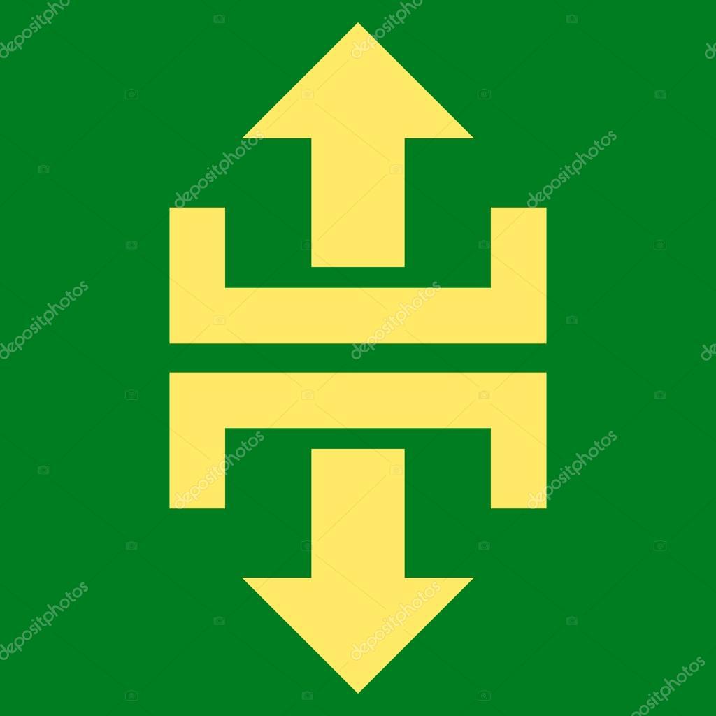 Divide Vertical Direction Flat Vector Symbol — Stock Vector ...