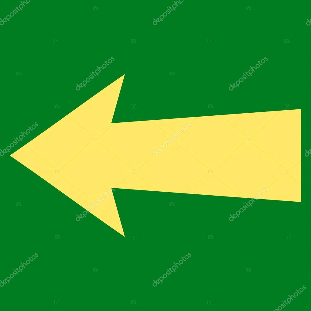 Arrow Left Flat Vector Symbol — Stock Vector © anastasyastocks.gmail ...