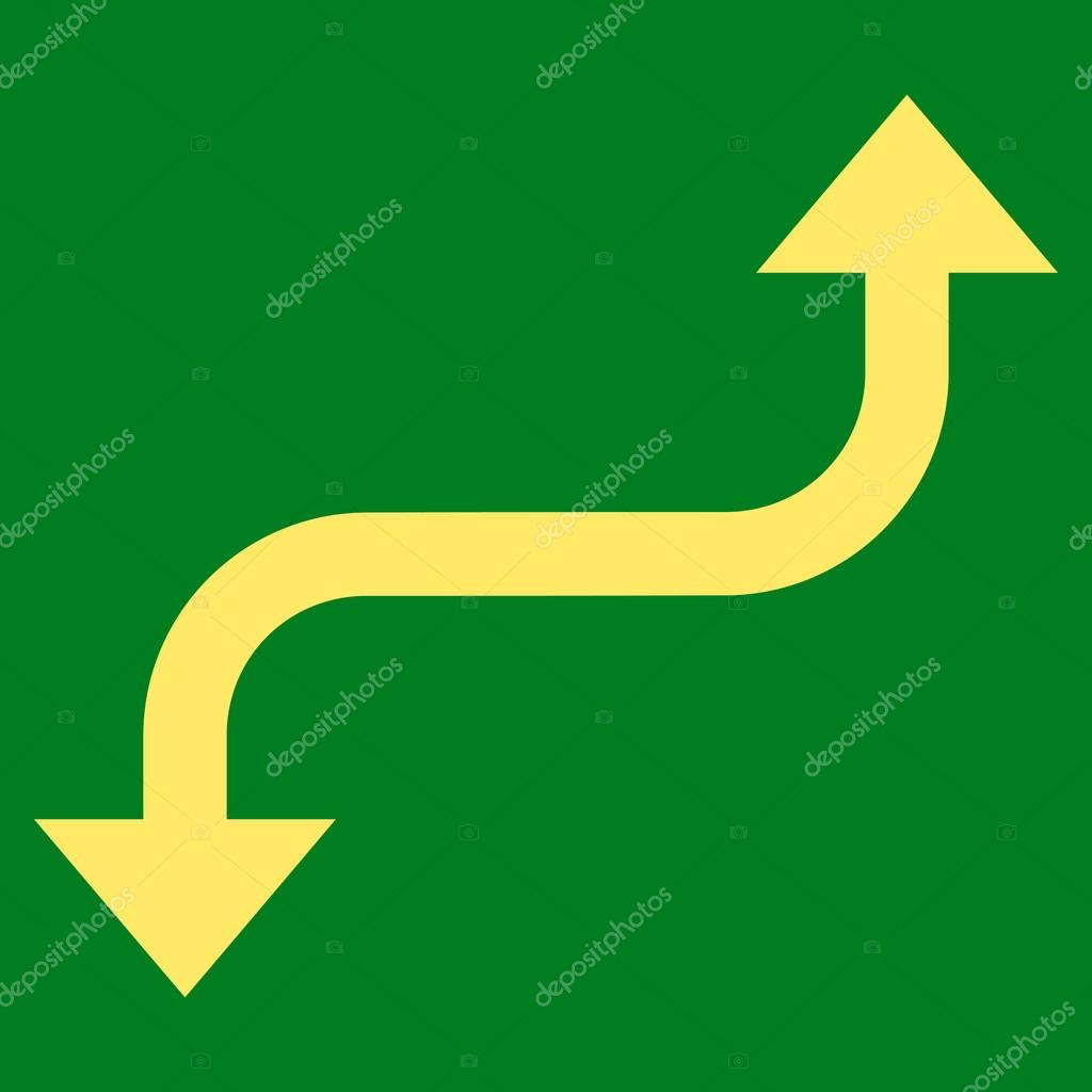 Opposite Curved Arrow Flat Vector Icon — Stock Vector ...
