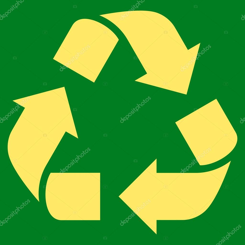 Recycle Flat Vector Symbol — Stock Vector © anastasyastocks.gmail ...
