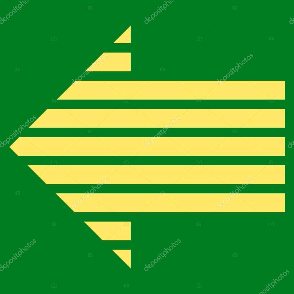 Stripe Arrow Left Flat Vector Symbol — Stock Vector ...