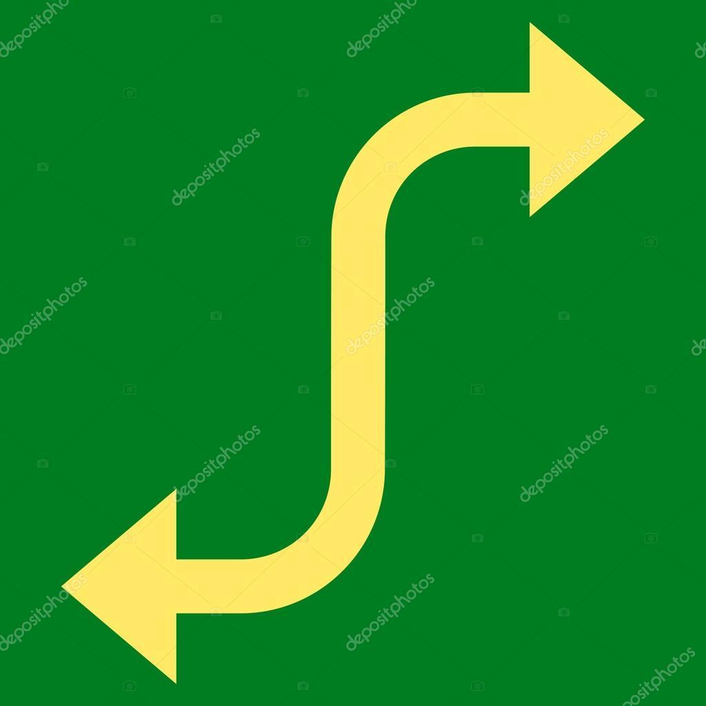 Opposite Bend Arrow Flat Vector Icon — Stock Vector ...