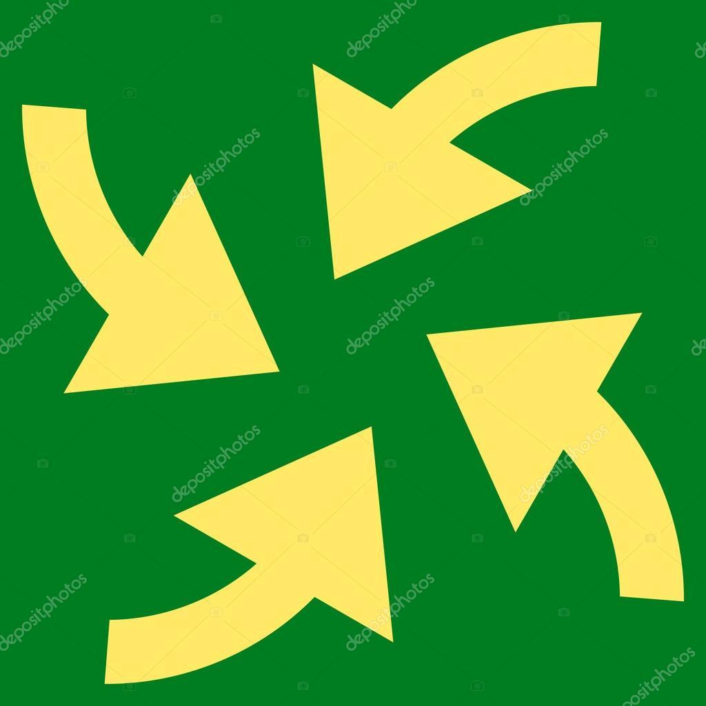 Cyclone Arrows Flat Vector Symbol — Stock Vector © anastasyastocks ...