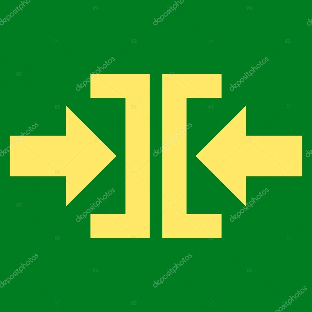 Press Horizontal Direction Flat Vector Symbol — Stock Vector ...