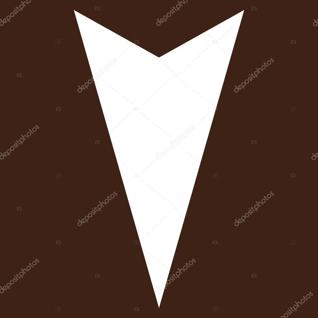 pijlpunt neer platte vector pictogram stockvector. Black Bedroom Furniture Sets. Home Design Ideas