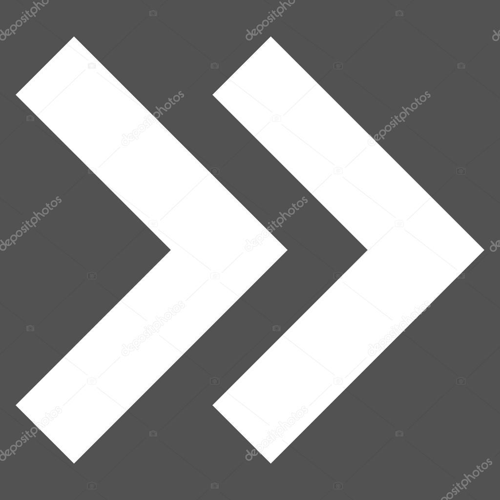 Verlagern Sie richtige Flat Vektor-Piktogramm — Stockvektor ...