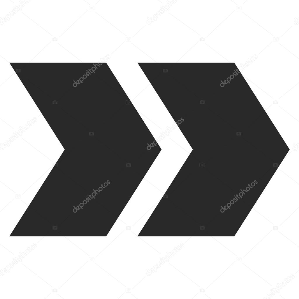 Verlagern Sie richtige Flat Vektor-Symbol — Stockvektor ...