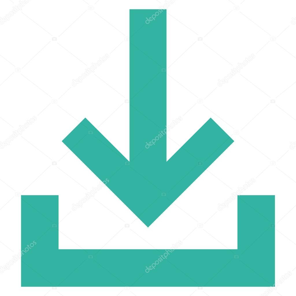 Icono de Vector de plana de la bandeja de entrada — Archivo Imágenes ...
