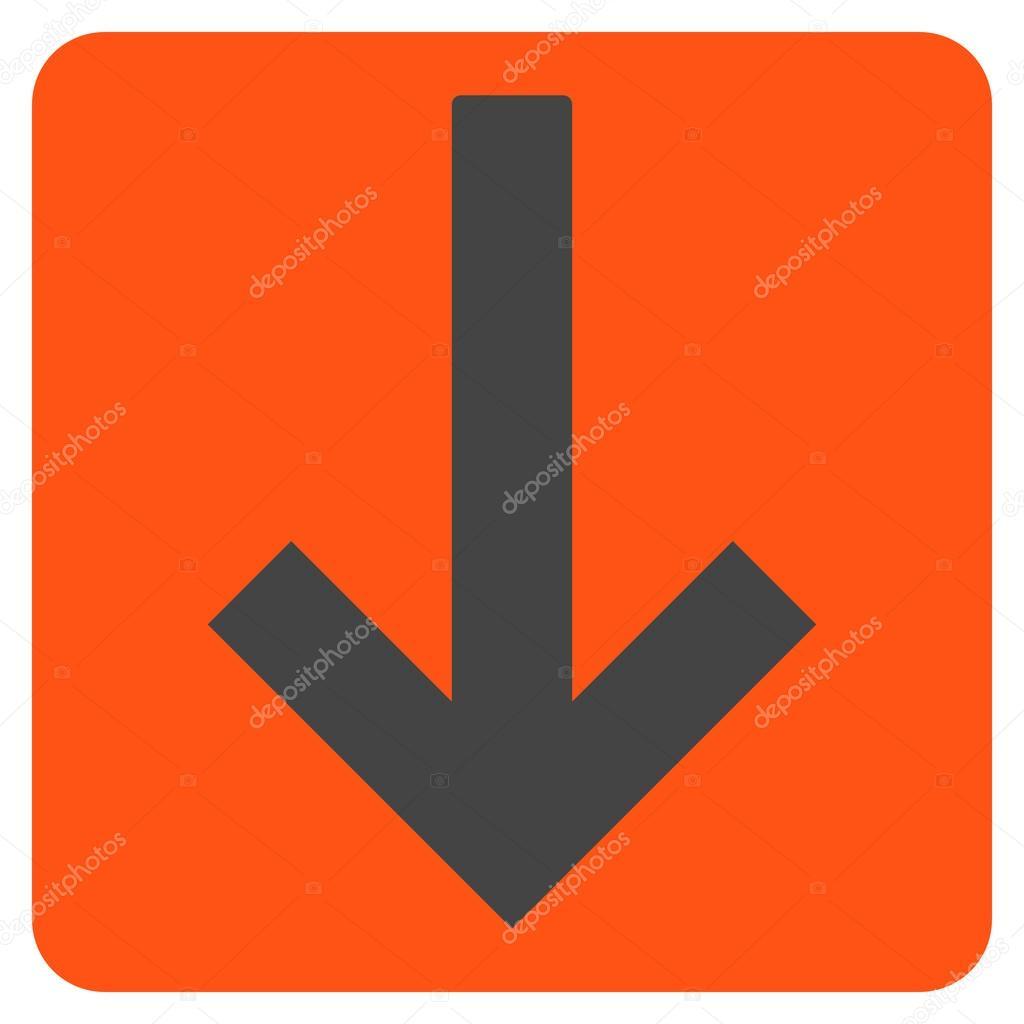Down Arrow Flat Vector Symbol