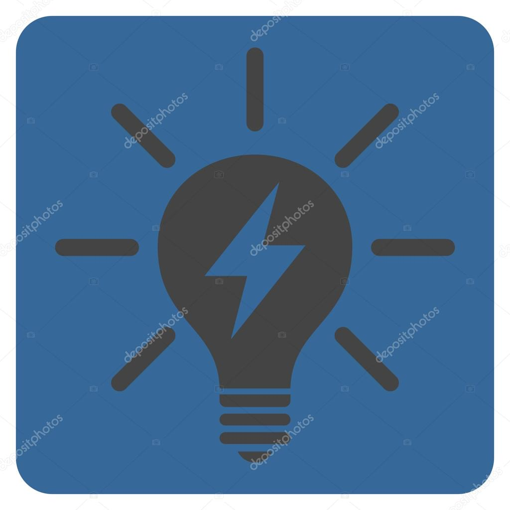 Electric Light Bulb Flat Vector Pictogram Stock Vector