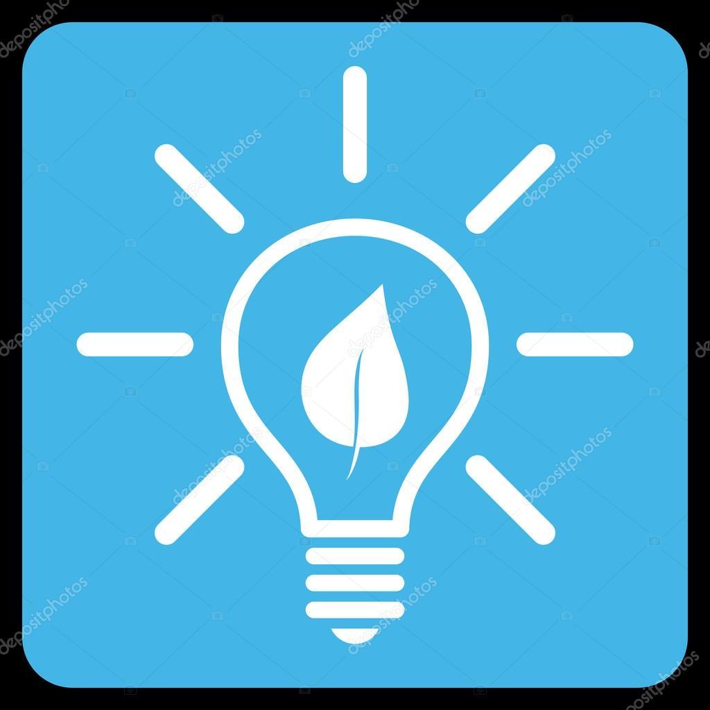eco light bulb flat vector symbol stock vektor