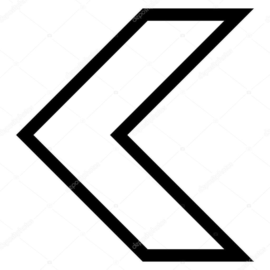arrowhead left outline vector icon stock vector anastasyastocks rh depositphotos com vectorworks arrowhead arrowhead vector art