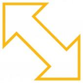 Výměna diagonálních tahů vektorové ikony