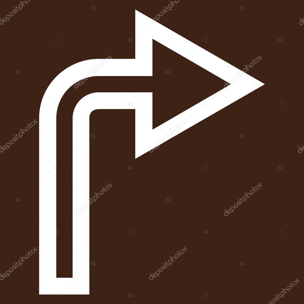 Stil Ist Strich Symbol Symbol, Farbe Weiß, Braun Hintergrund U2014 Vektor Von  Anastasyastocks.gmail.com| ...