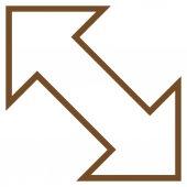Výměna diagonální kontury vektorové ikony