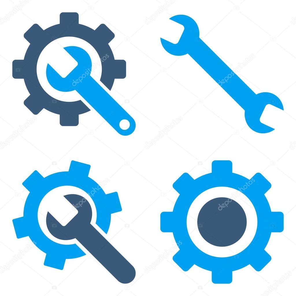 settings flat vector symbols stock vector anastasyastocks gmail